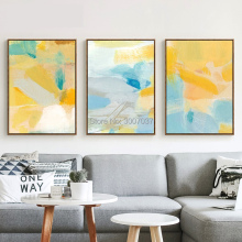 Painting Art Handmade Abstract Color Oil on Canvas bright color Wall Picture Living Room Home Decor
