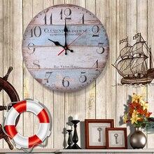 1 шт., винтажные деревянные настенные часы, современный дизайн, античный стиль, для дома, гостиной, офиса, кухни, настенные 11,5 см/30 см