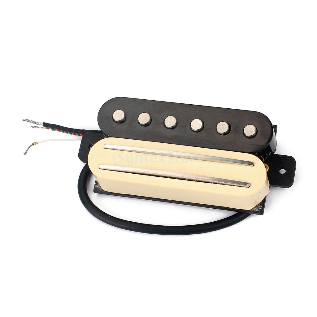 Hot Rail With Single Coil Humbucker Twin Pickup for ST Stratocaster Electric Guitar