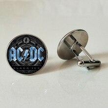 ACDC Glass Cufflinks AC/DC Band Mens Gifts Australian Rock Handmade