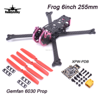 Frog 6inch 255mm trueX 4mm Arms Aluminum parts XPW PDB 6030 Prop FPV Racing Freestyle Quadcopter frame drone kit Rooster 230mm