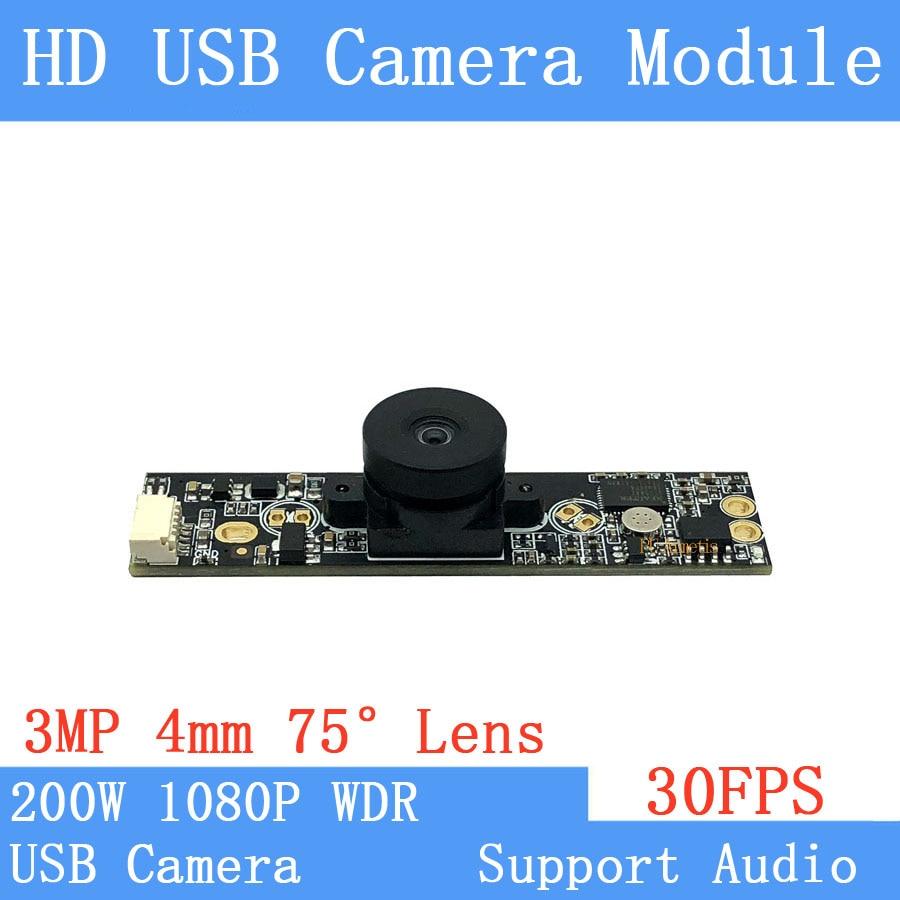 Industrial Surveillance camera WDR 2MP Full HD 1080P Webcam Windows UVC Linux 30FPS USB Camera Module