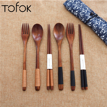 Tofok 3pcs Spoon Fork Chopstick Dinnerware Set Cutlery Wrapped Wire Handmade Tableware Chinese Japanese Kitchen Accessories Gift