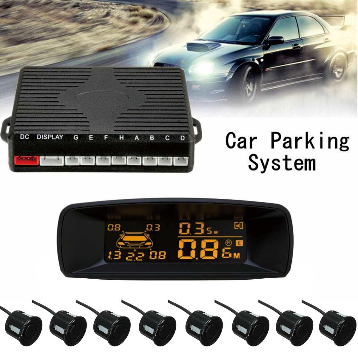Автомобильный парковочный датчик 8 датчиков s ЗАДНИЙ Вид спереди реверсивная резервная радар система комплект 8 зондов + ЖК-дисплей монитор +...