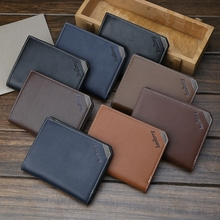 Casual Mens Wallet Multi-Function Soft Leather Short Business Vertical