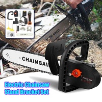 2 in 1 Electric Chainsaw Angle Grinder Stand Bracket Set Brushless Woodworking Cutting Tools Grinder Machine Power Tools Kit
