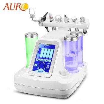 AURO 6 em 1 Fornecimento de Fábrica Pequenas Bolhas Máquina Ultra-sônica RF Hidra Facial Profunda Poros Limpos Massagem Facial com Melhor qualidade