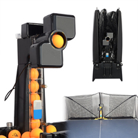 80x34x34cm 50W Automatic Robot Table Tennis Ping pong Ball Machine Practice Recycle With 100 Balls 0 9 Head Swinging Speed New