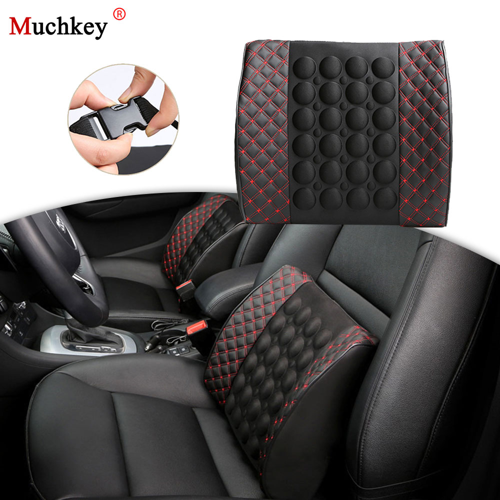 Car Seat Lumbar Support With DC 12V Car Charger Massage