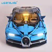 Lightaling Light Set For Technic Series Chiron LED Lighting Kit Compatible With Bugatti 42083 and 20086 (NOT Include The Model)