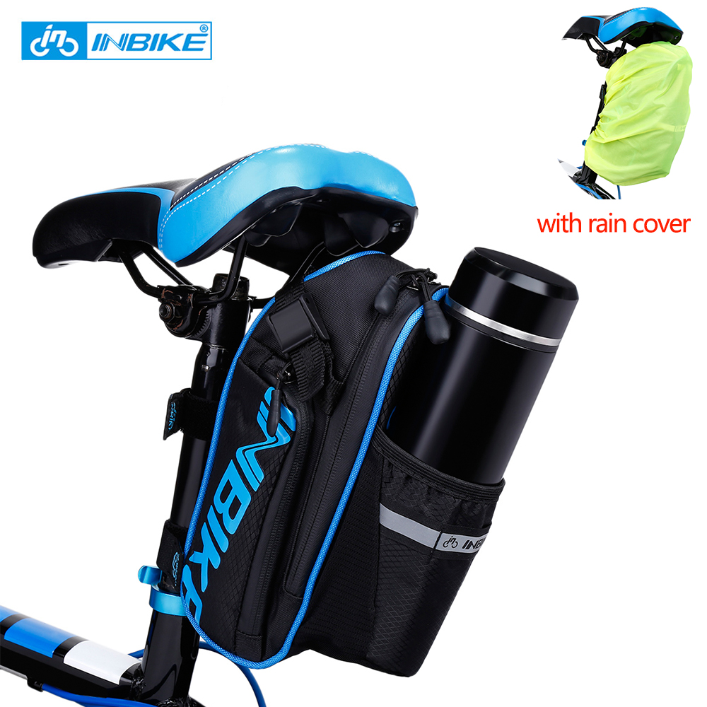 Road Mountain Bike Bicycle Rear Seat Saddle Bag Pouch Water Bottle Pocket