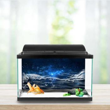 New Style PVC Adhesive Star Dust Aquarium Fish Tank Background Poster Backdrop Decoration Paper מסרק כינים