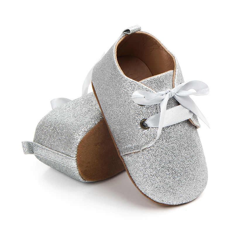 אופנה מותג תינוקת נעליים עבור 1 שנה ישן יילוד רך בלינג ראשון הליכונים תינוקות זהב רסיס תחרה פעוט עד נעלי ספורט