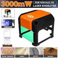 3000mW USB bluetooth Desktop Laser Engraving Machine DIY Logo Mark Printer Cutter CNC Laser Carving Machine