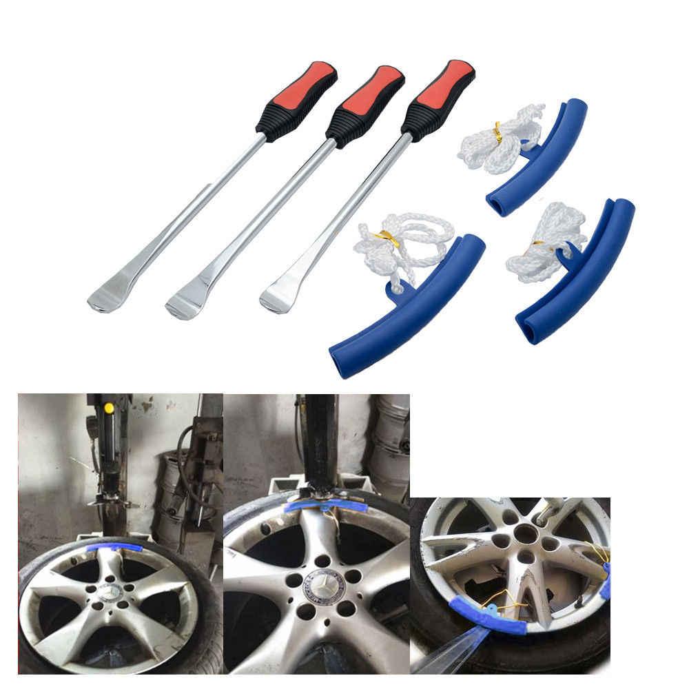 Acouto 5 Pcs Car Tire Changer Guard Rim Protectors,Motorcycle Wheel Rim Saver Changing Tyre Tire Wheel Rim Edge Protector Tool Yellow