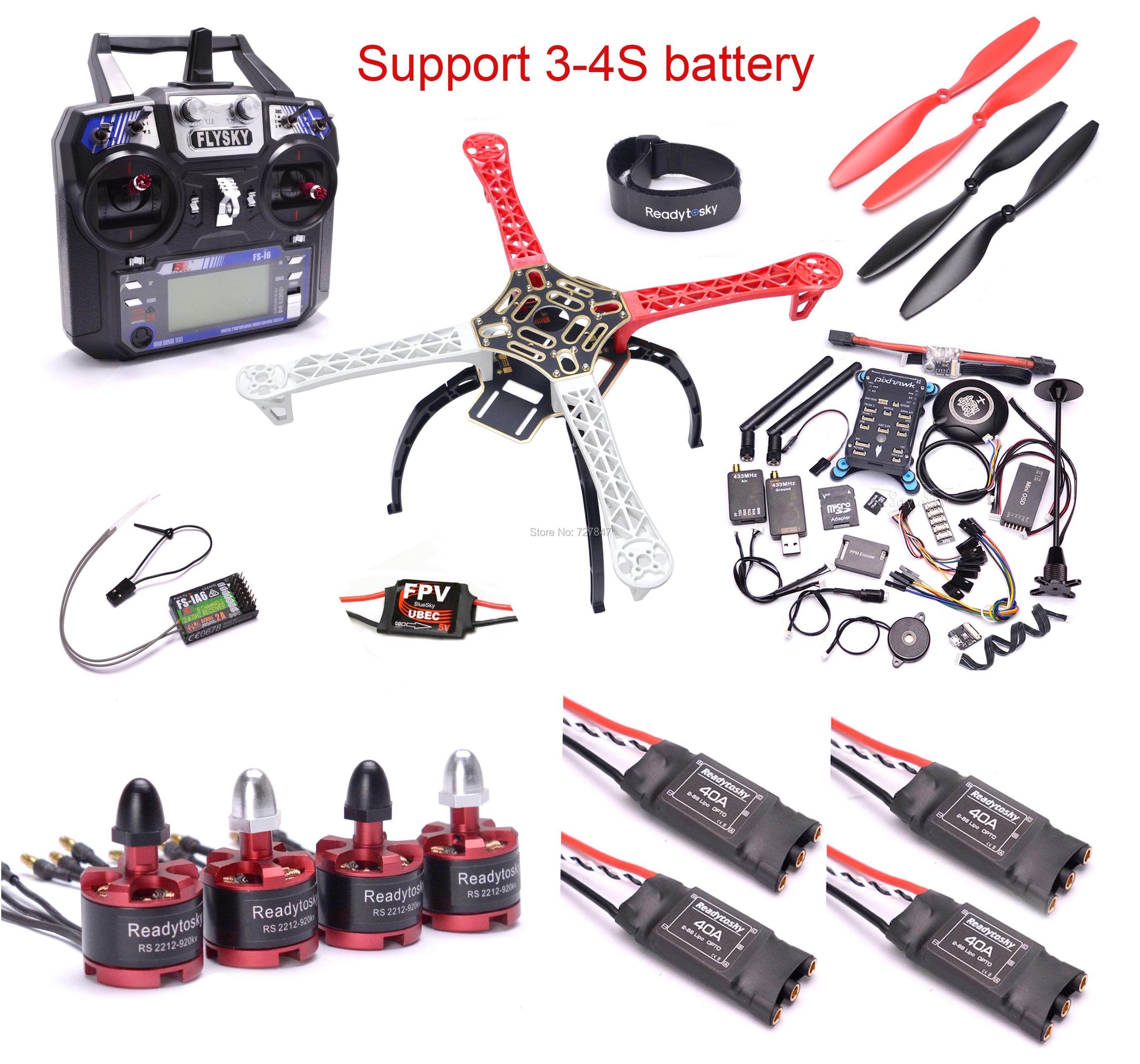 F450 450mm/X500 500mm Kit cadre quadrirotor PIXHAWK 2.4.8 commande de vol M8N GPS 40A sans balai ESC 2212 920KV moteur Flysky I6F450 450mm/X500 500mm Kit cadre quadrirotor PIXHAWK 2.4.8 commande de vol M8N GPS 40A sans balai ESC 2212 920KV moteur Flysky I6