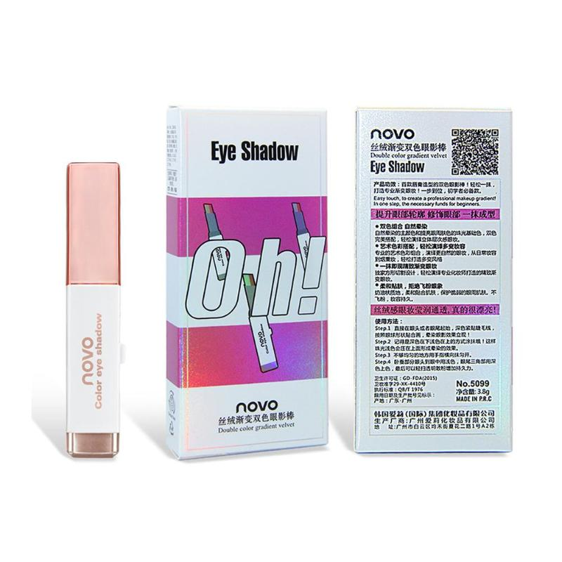 Купить с кэшбэком Two Tone Gradient Eye Shadow Stick Shimmer Eyeshadow Pen Eye Makeup Beauty Cosmetics Tool