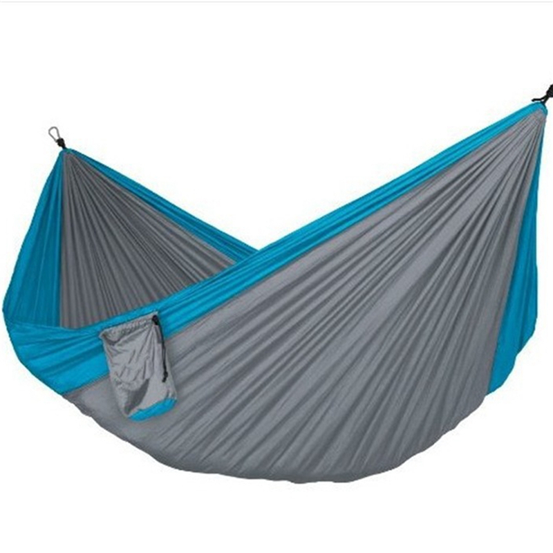 300kg Assorted Color Hanging Sleeping Bed Parachute Nylon Fabric Outdoor Camping Hammocks Double Person Portable Hammock