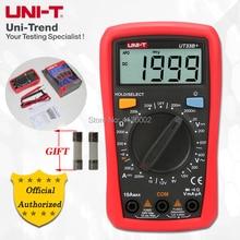 UNI T ut33a +/ut33b +/ut33c +/ut33d + multímetro tamanho palma; resistência/capacitância/temperatura/teste ncv, luz de fundo