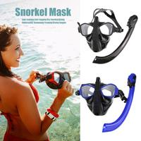 Diving Mask Scuba Mask Set Full Face Snorkeling Mask Anti Leaking Anti Fogging Dry Snorkel Underwater Swimming Diving Goggle