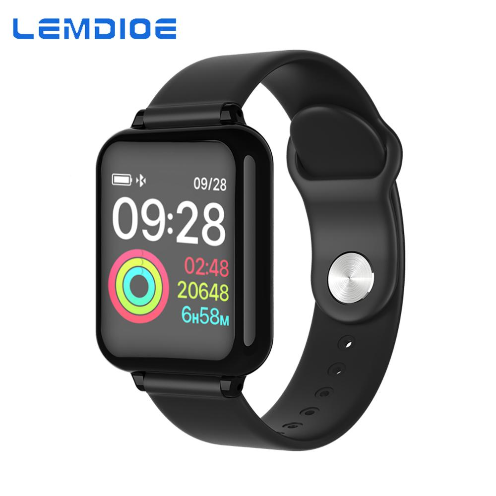 LEMDIOE smartwatch men women Heart Rate Blood Pressure Monitoring Call Message Reminder Waterproof Fitness Tracker for android