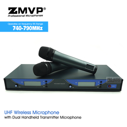 Free Shipping EW545G2 Professional UHF Wireless Microphone Karaoke System with Dual EW500G2 Handheld Transmitter Microfone Mic