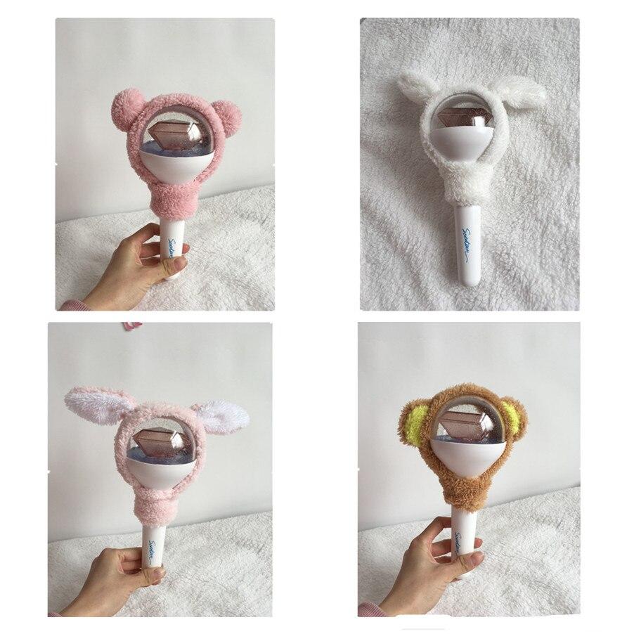 Kpop Seventeen Cute Cartoon Lightstick Headband The8 Dk Light Stick Plush Head Cover Carat Gift Jewelry & Accessories