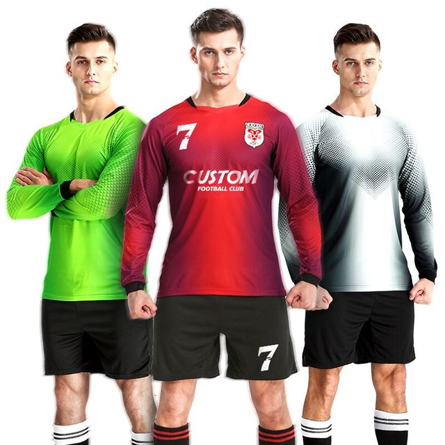 727877759 Men Soccer Jersey Sets Chandal Futbol Design Custom Football Training Team  Uniforms Long Sleeves Sports Clothes Soccer Tracksuit
