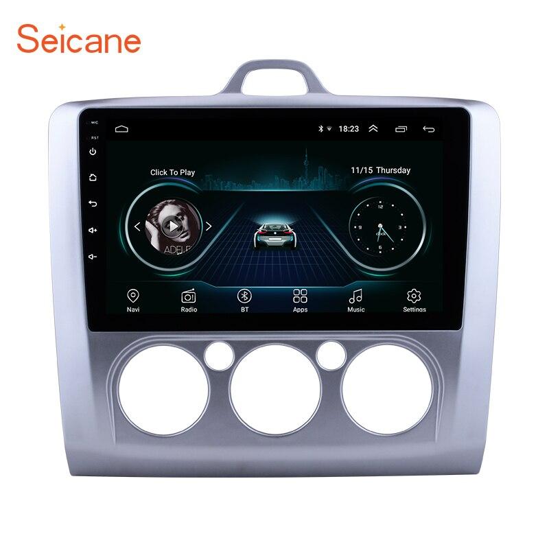 Seicane Android 8.1 9 2Din GPS lecteur multimédia autoradio pour ford focus EXI MT 2 3 Mk2/Mk3 2004 2005 2006 2007 2008-2012