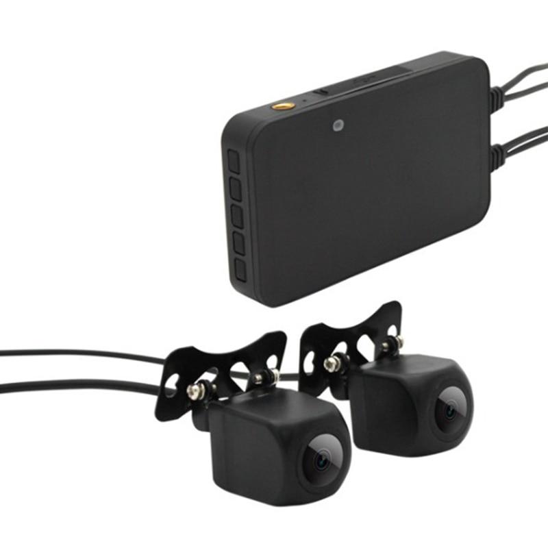 MT002 Motorcycle Recorder 1080P HD Waterproof Dual Lens Dash Cam 4 6 Lanes 140 Degree Wide