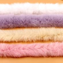 Ленты из искусственного кроличьего меха пушистая отделка DIY домашний декор швейные изделия для костюма