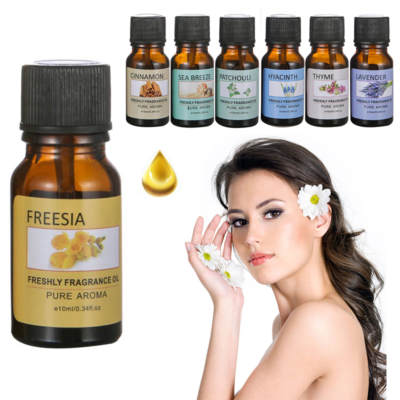 100% Pure Natural Aromatherapy Oils Air Freshening Dropper Essential Oil Flower Fruit Humidifier Massage Fragrance Oil TSLM1 1