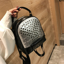 2019 Women Backpack Hot Sale Fashion Causal bags High Quality bead female shoulder bag PU Leather Backpacks for Girls mochila