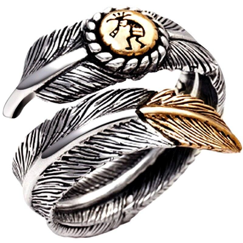 ZABRA 925 Ασημένια δαχτυλίδια vintage φτερά - Κοσμήματα - Φωτογραφία 5