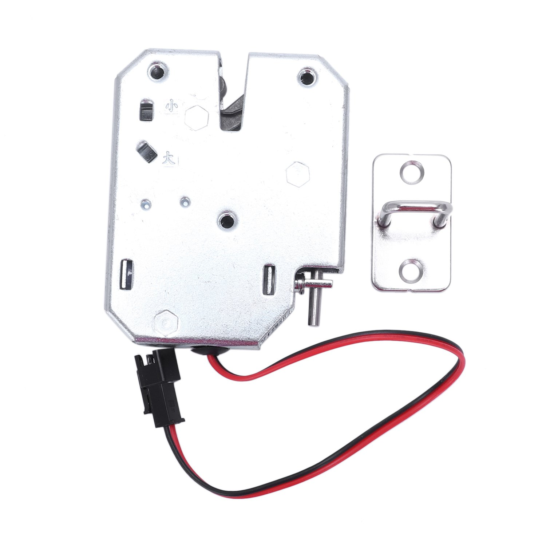 Electric Control Lock DC 12V 2A Electromagnetic Door Lock Cabinet Drawer Lockers Lock Latch Carbon Steel Silver Padlock Cabinet Locks     - title=