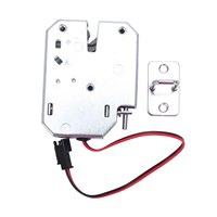 Fechadura de controle elétrico dc 12v 2a fechadura da porta eletromagnética armário gaveta armários trava cadeado prata aço carbono