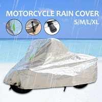 S/M/L/XL Oxford Motorcycle Covers Outdoor UV Rain Protector Waterproof Dustproof Motor Bike Covering Scooter Covers Rain Coat