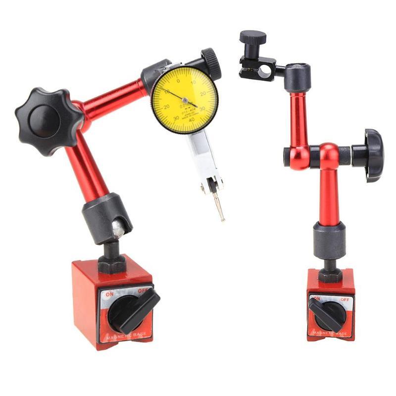 0-0.8mm Alta Precisão Alavanca Indicador Dial Indicador de Teste De Discagem 0.01 milímetros À Prova D' Água Com Base de Metal Magnético Flexível