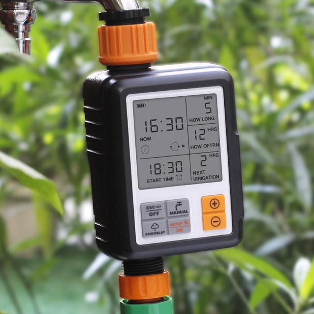 Automatic Electronic LCD Display Sprinkler Controller Outdoor Garden Timer Automatic Watering Device Irrigation System Yard Tool