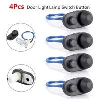 New Arrival 4pcs Universal Auto Car Interior Door Light Lamp Switch Button Car Interior Parts Black|Car Switches & Relays| |  -