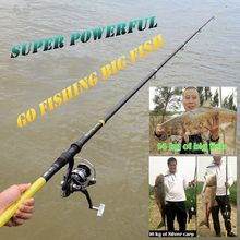 Super Telescopic Fishing Spinning Rod With Reel Set Carbon Free Accessories Big Fish Tools 2.1/2.4/2.7/3/3.6 M Feeder Shore Jig(China)