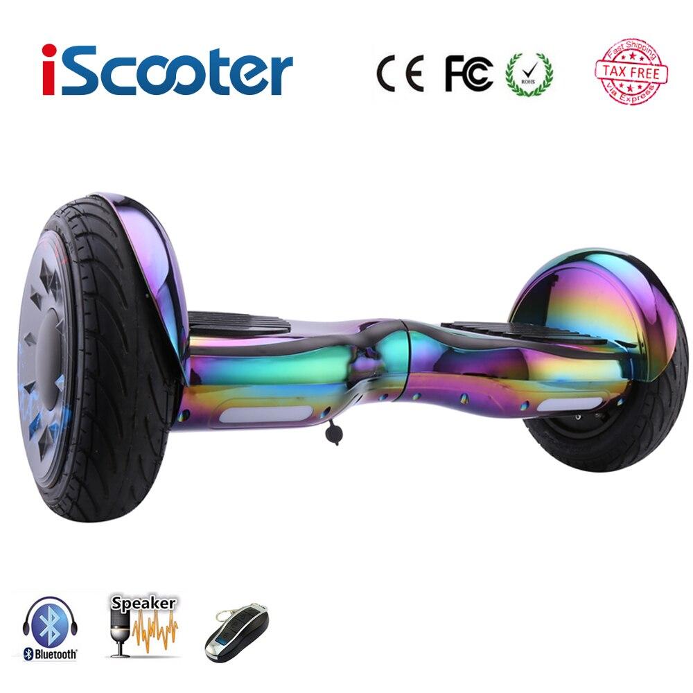 Hoverboards 10 pouces Scooter auto Balance Hoverboard électrique par-dessus bord Gyroscooter Oxboard planche à roulettes deux roues Hoverboard