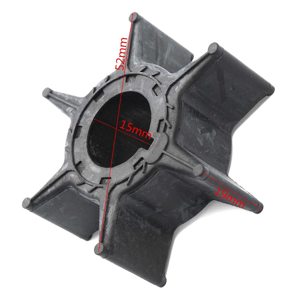 Water Pump Impeller Black Rubber For Yamaha Outboard 6H4-44352-01 676-44352-01 Sierra 18-3068 6 Blades Boat Parts & Accessories