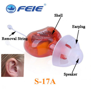 Digital Invisible Hearing Aid Sound Amplifier for Severe Hearing Loss Adjustable Volume with Tinnitus Earplugs Ear Care  s-17a