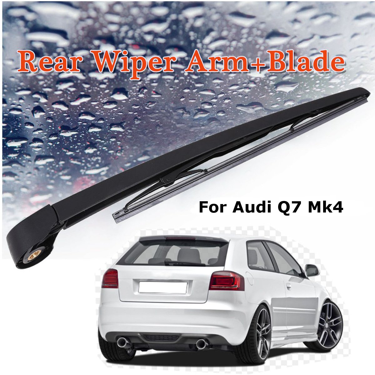 3 x Blades Front and Rear Blades A1 Hatchback May 2010 to Oct 2018 Windscreen Wiper Blade Set
