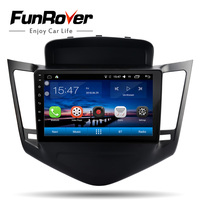FUNROVER Android8.0 автомобильный Радио мультимедийный dvd плеер для Chevrolet Cruze 2009 2013 2din gps навигация с рулем стерео