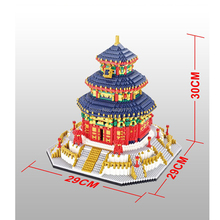 hot LegoINGlys creators city Famous Architecture China Beijing Temple of Heaven micro diamond building blocks model toys gifts