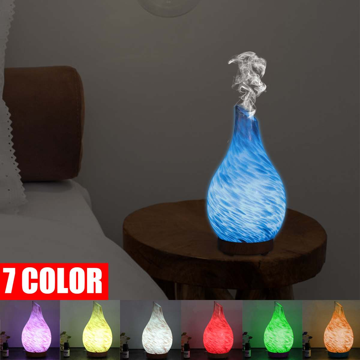 12W LED Light Air Humidifier Essential Oil Diffuser Purifier Led Night Light 7 Color Change Aromatherapy Mist Humidifier Office12W LED Light Air Humidifier Essential Oil Diffuser Purifier Led Night Light 7 Color Change Aromatherapy Mist Humidifier Office