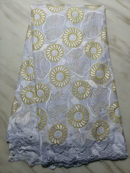 African Voile Lace Fabric 2019 High Quality Lace Swiss Voile Lace In Switzerland Embroidery Cotton Dry Lace Fabric With Stones
