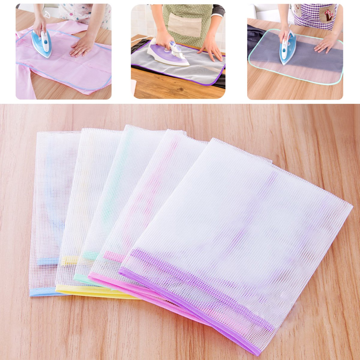 Protective Press Wire Mesh Ironing Delicate Garment Clothes Ironing Board Cover Mesh Cloth